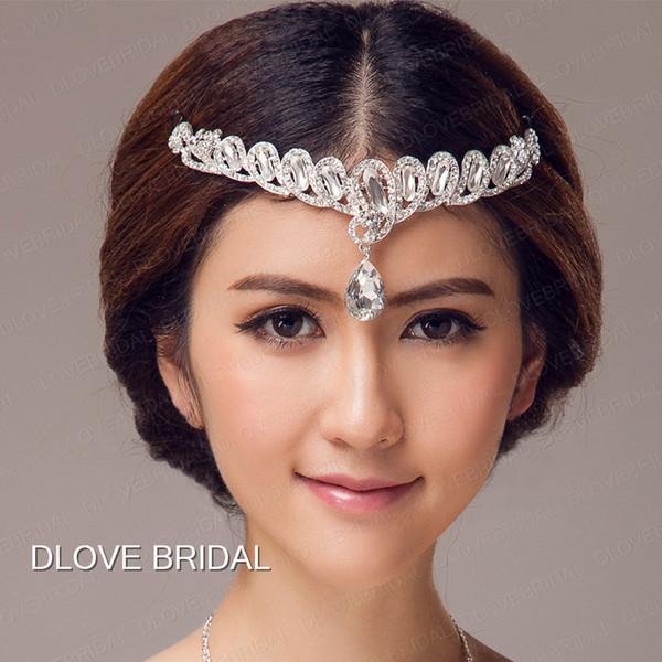 Free Shipping Crystal Bridal Headband New Style Elegant Wedding Hair Accessory Elegant Real Photo Headpiece Hairband In Stock Ready to Ship