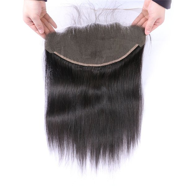 Human Hair Lace Frontal Closure 13*6inch Virgin Brazilian Straight Hair Lace Frontals With Baby Hair