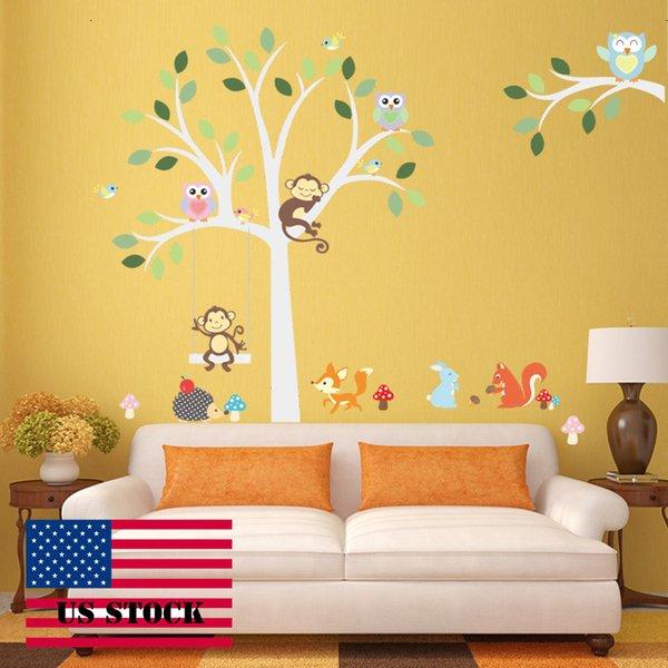 Wallstickers Diy Kids Wall Sticker Tree Vinyl Bird Wall Stickers ...