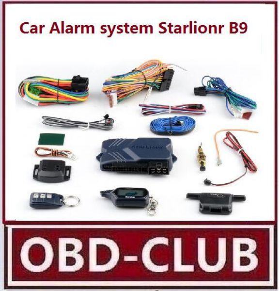 top popular 2017 Wholesale Free shipping 2-way car alarm system Starlionr B9 Russian version two way LCD remote engine starter Starlinor B9 2019