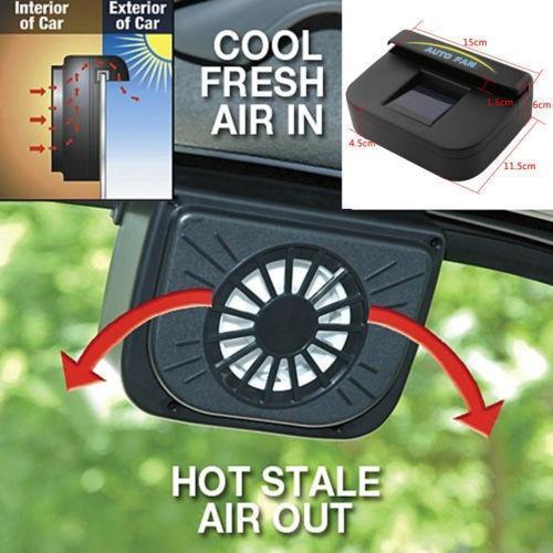 Auto Fan Auto Auto Abluftventilatoren Solarbetriebenes Belüftungssystem Gebläse Hält Ihren geparkten Gar Cooler Heißluft