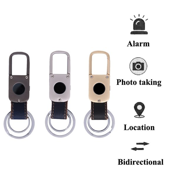 Directional Smart GPS Tracker Key Chain Bluetooth Positioning Locater Anti Lost Keychains Alarm Phototaking Key Finder