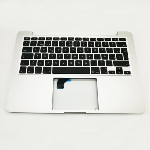 """New For Macbook Pro Retina 13"""" A1502 TopCase Palmrest Top Case Keyboard Replacement Spanish Layout 2015 2016 Years"""