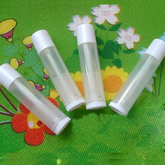 5g Empty LIP BALM Tubes Lipstick tube Clear with White cap Diy cosmetic packing container Free Shipping