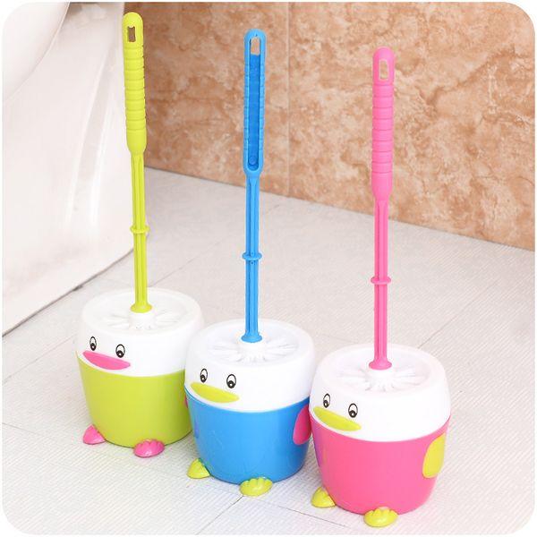 Fashion creative cartoon toilet toilet brush brush toilet brush with integrated wholesale