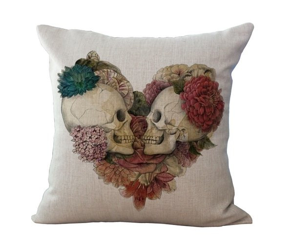 best selling Halloween Mexican Sugar Skull Cushion(No inner)Decorative Throw Pillow Sofa Home Decor Almofada Cojines Decorativos Coussin