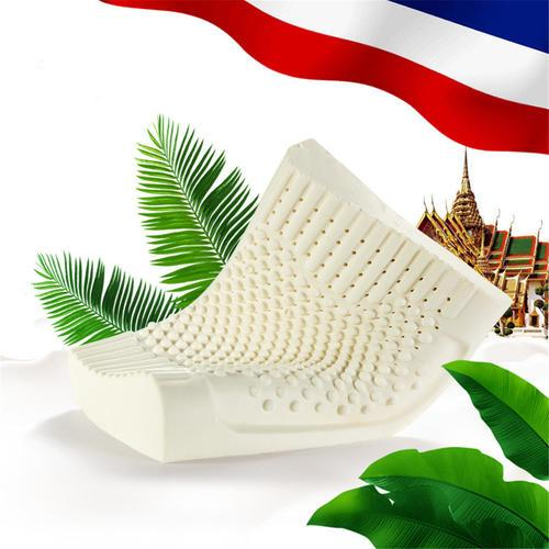 best selling Thailand Import Natural Latex Cervical Vertebrae Health Care Orthopedic Massage Natural Latex Pillow