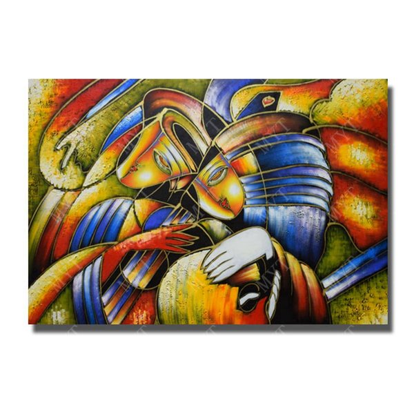 Top quality modern abstract painting canvas art home goods decor free shipping large size wall art for restaurant