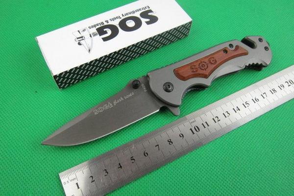 Новый SOG FA05 высокое качество складной нож 5Cr13 56hrc стальная головка + деревянная ручка тактические ножи охота кемпинг инструменты