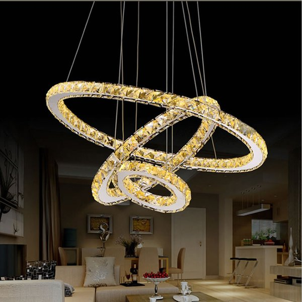 Modern Chandelier Led Crystal Ring Chandelier Crystal Light Fixture