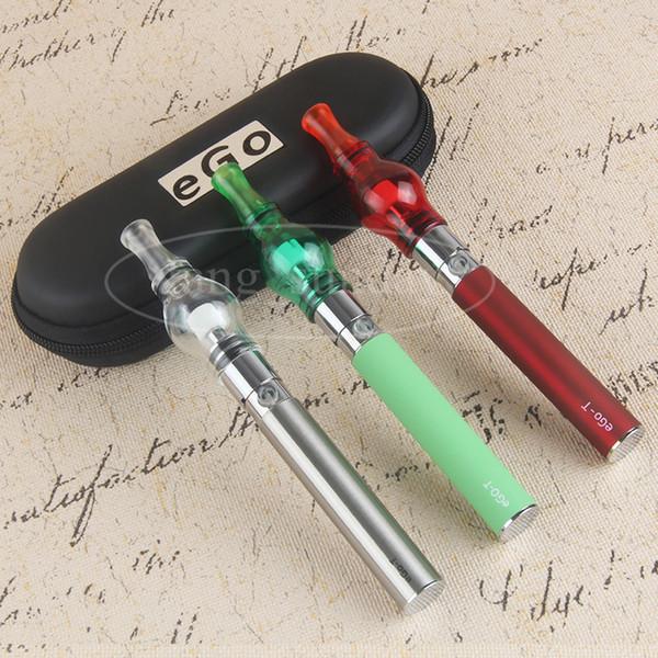 E Cigs eGo T Wax Oil Glass Globe Dab Pens Dome Tank E Cigarettes eVod Vaporizer Pen Starter Kit Zipper Carry Case