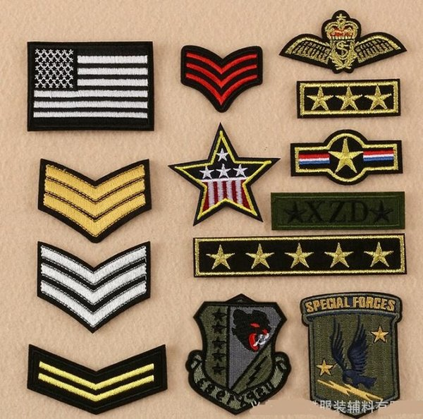 2019 Military Standard Iron On Patches Army Cloth Logo Fabric Logo Applique Badge Clothing Accessori Diy Applique Biker Embroidered Wholesale From