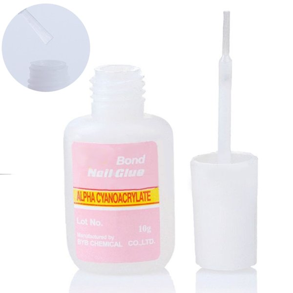 5 Bottles Acrylic Nail Art Glue Fake Nails Glue Suitable For Nail ...