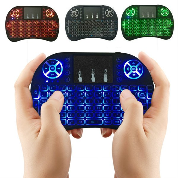 RII Air Mouse Multi-teclado sem fio Mini I8 2.4 GHz Touchpad Controle Remoto Para TV BOX Game Play Tablet PC DHL OTH500