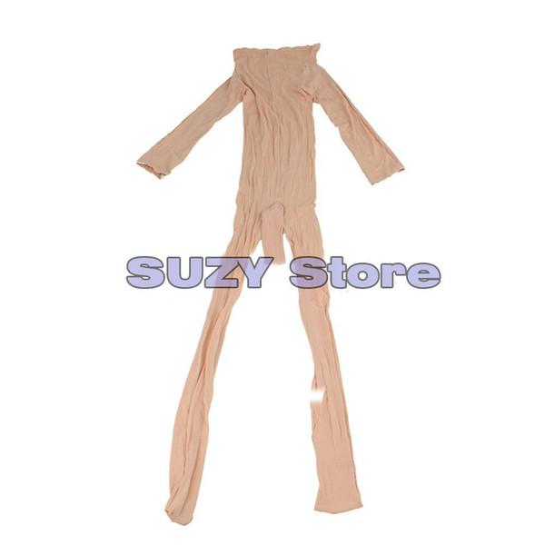 best selling Hot Unisex Body stockings Sexy Men's Body Pantyhose Opened Sheath Sleeve Tight Stocking Crotch Close Black White Beige