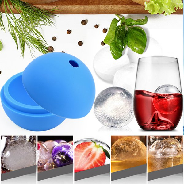 50pcs 2.5 inch Silicone Ice Ball Maker Mold Sphere Large Tray Whiskey DIY Mould New Free Shipping