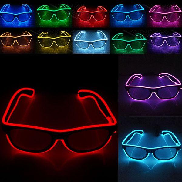 LED Party Brille Mode EL Draht Brille Geburtstag Halloween Party Bar Dekorative Lieferant Leuchtende Brillen WX-G03