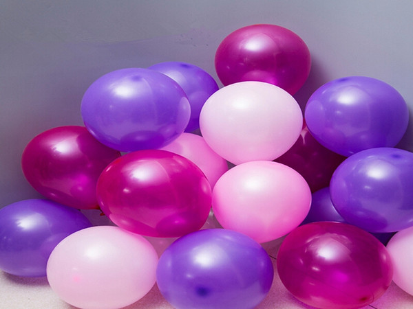 top popular 1000pcs lot Fast shipping 10 Inch 1.5g latex Ballons Birthday Wedding Decorations Balloons Pink White Purple Party supplies 2021