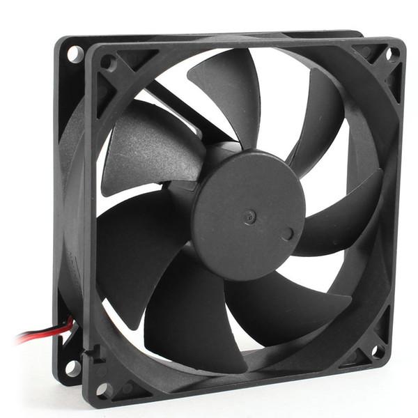 DC 6015 12V / 24V CPU Cooling Fan PC Cooler для портативного компьютера 7 Blade Quite Sleeve Ball Bearing Type