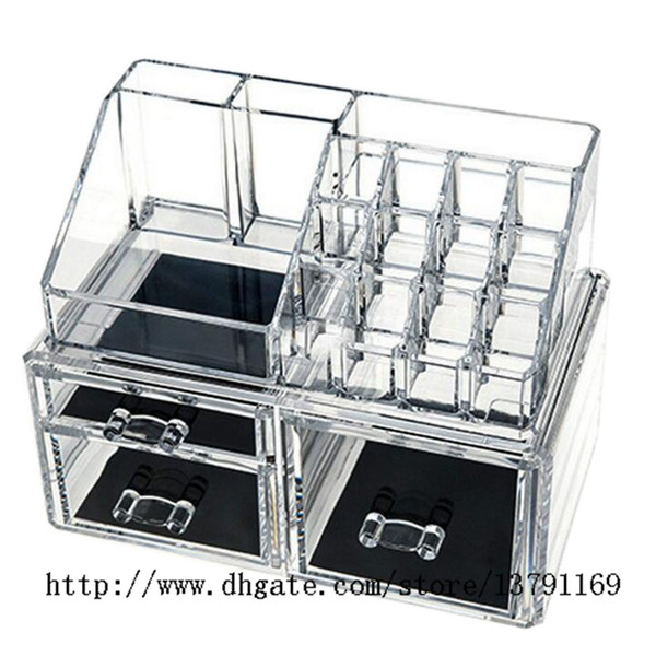 2019 Makeup Holder Multiple Display Stand Cosmetic Organizer Clear Acrylic  Makeup Organizer Drawer From Pioneer160, $16.53