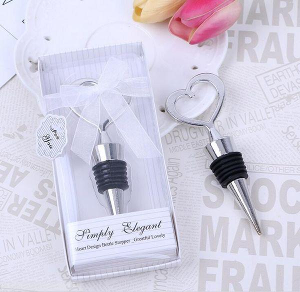 100set / lot + chrome bouchon en forme de coeur bouchon en boîte d'affichage vitrine emballage faveurs de mariage livraison gratuite