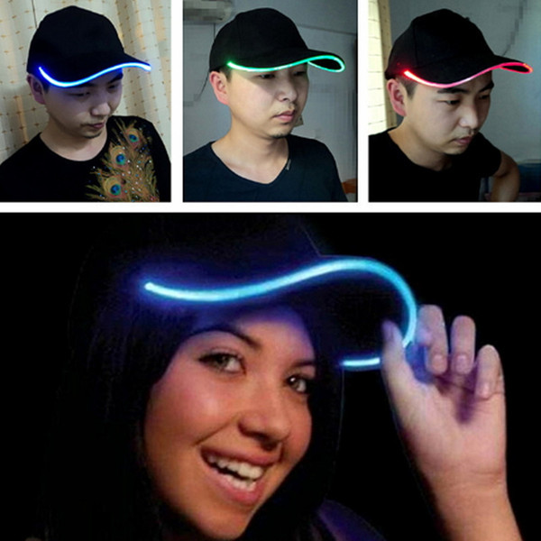 Led Party Baseball Hats Luminous Women Men Hockey Snapback Ball Caps Unisex Fiber Optic Hat Visor Tourism for Travel Sports Christmas