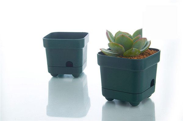 Wholesale 50pcs MOQ Green Water Reserve Automatically Flower Bonsai Planting Grow Pot for Home Table Garden Succulents Growing Decoration