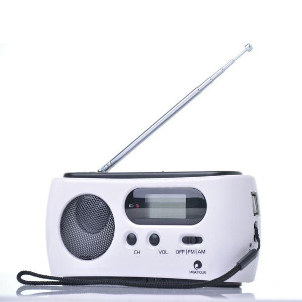 Dynamo Radio AM/FM Radio Receiver Generator Solar Hand Crank Dynamo Powered Rechargeable Flashlights For Outdoor Camping