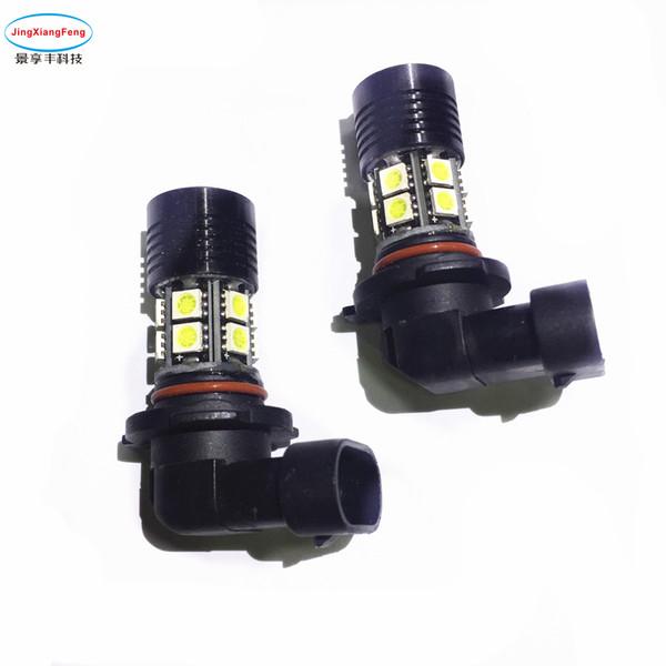 2XCar 9005 hb3 9006 LED Sis Lambası Gündüz Çalışan Ampul Dönüm Park Ampul 12 V farlar