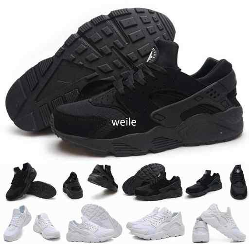 Hot Sale Air Huarache Ultra Running Shoes For Women Men,Mens White Triple Black Huaraches 1 Sports Sneakers Trainers Huraches Shoe 36-46