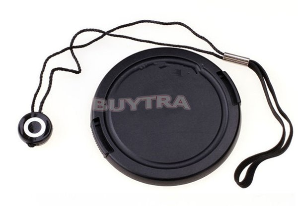Wholesale-2 in 1 Lens Cover Cap Keeper Holder + Snap-on Front 58mm Lens Cap cover For 58mm lens filter