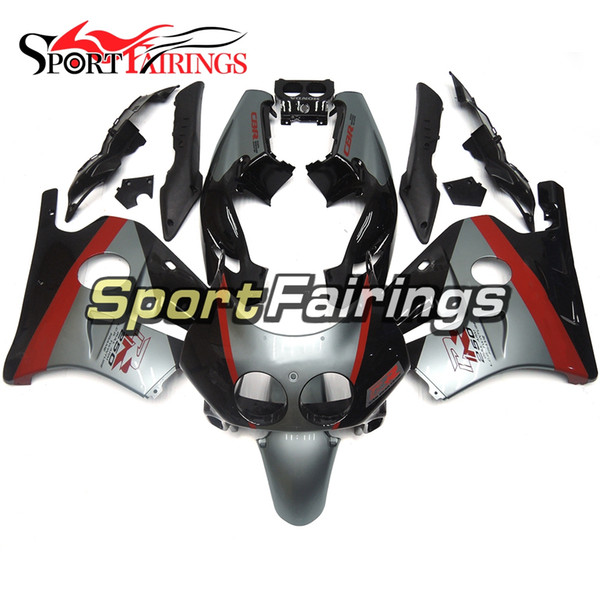 Black Grey Red Full Fairing Kit For Honda CBR 250RR MC22 1990 1991 1992 1993 994 Sportbike Injection Motorcycle Bodywork Cowlings Bodywork