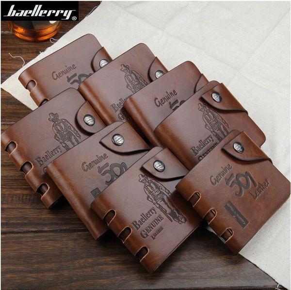 best selling Baellerry BAILINI GUBINTU 501 101 Man PU Leather Clutch Business Credit Card Holder Pocket Letter Bag Wallet Purse
