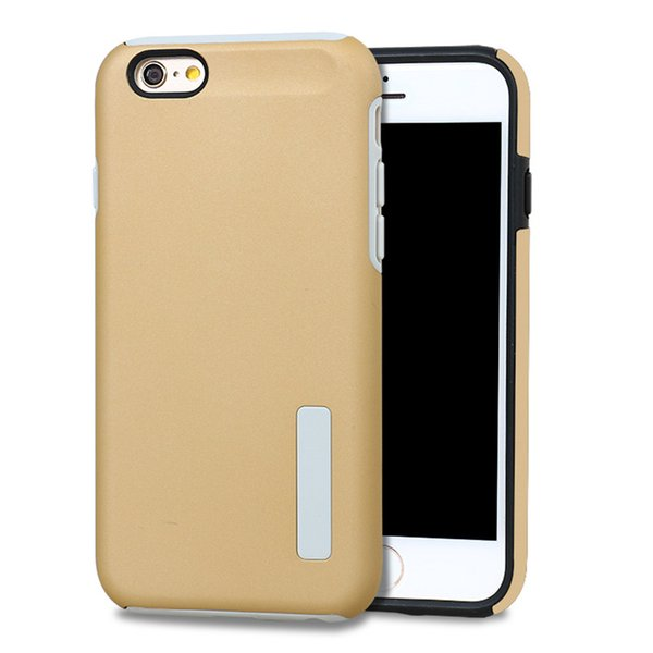 Duo Case Dual Shockproof armor Hybrid Shell Rugged Hard Back Cover For Apple iphone 5 5s SE 6 6S 6Plus 7 7Plus Capa