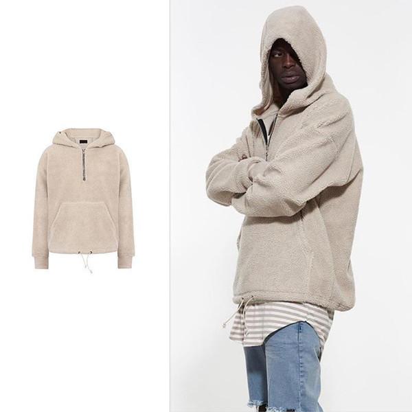 Acheter Manteau En Tissu Sherpa À Capuche En Molleton Sherpa Pour Hommes Manteau À Capuche Homme Hip Hop Sweatshirt Homme De $99.49 Du Herish  