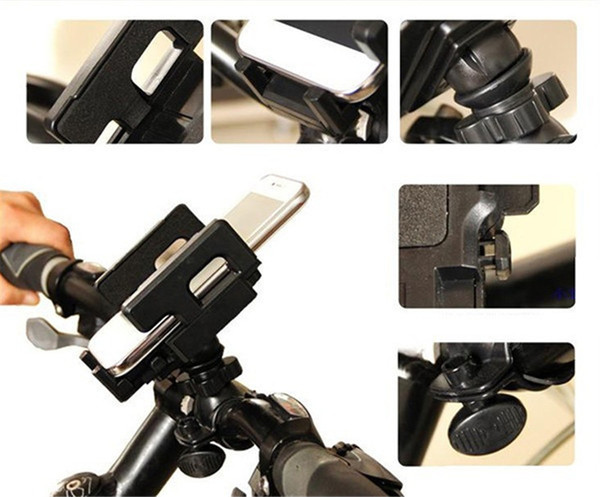 360 Rotating Universal Bike Bicycle Handle Phone Mount Cradle Holder Cell Phone Support Case Motorcycle Handlebar For CellPhone