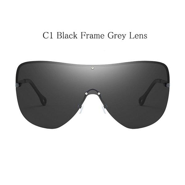C1 schwarzer Rahmen graues Objektiv