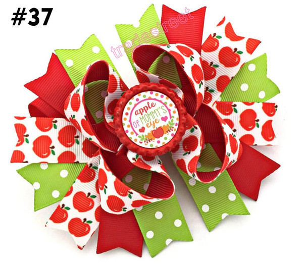 free shipping 300pcs 5'' 2017 newest character bow school hair bows Patriotic Bow inspired hair clips fashion girl hair accessories A