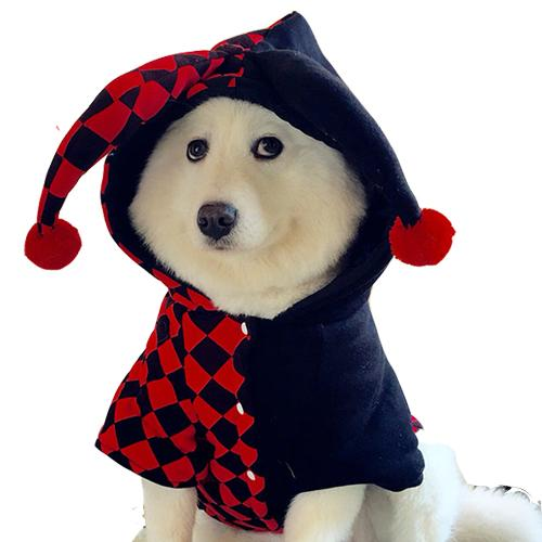 XMAS Gift for Pet Dog Apparel Party Coplay Suit The Clown Costume Novelty Fashion Puppies Poodles Coats Cat Brand Clothing for Free Shipping