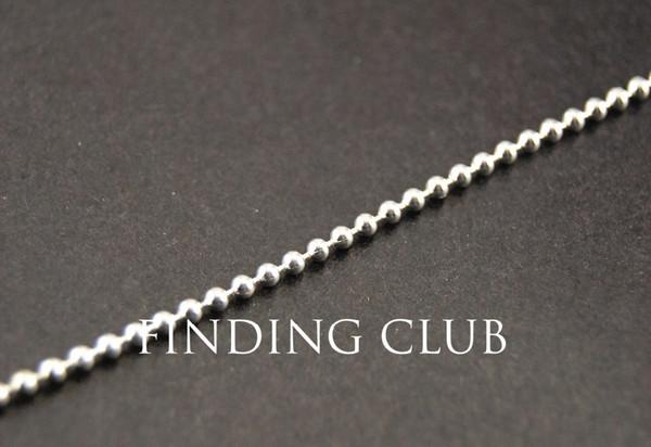 Precio de fábrica 10 metros de metal de plata de 2 mm perlas de latón bola resultados de la joyería de la cadena a granel C60