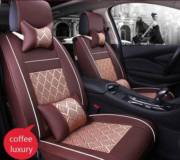 Wondrous Auto Car Seat Cover Full Sets Universal Fit 5 Seat Suv Sedans Front Back Seat Mats Automotive Interior Imitation Leather Ice Silk Back Cushion For Car Machost Co Dining Chair Design Ideas Machostcouk