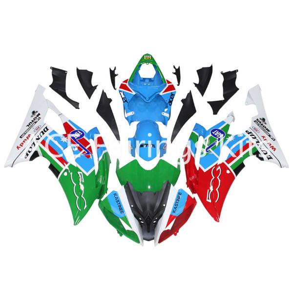 3 gift New Fairings For Yamaha YZF-R6 YZF600 R6 08 15 R6 2008-2015 ABS Plastic Bodywork Motorcycle Fairing Kit Red green white style vv12