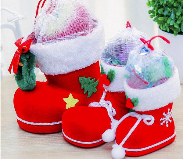 Elf Christmas Gift Bags.Christmas Gift Bag Elf Spirit Candy Boot Shoes Stocking Holders Xmas Party Decoration Drawstring Filler Bags Pen Holder Favour Favor Red Sml Christmas