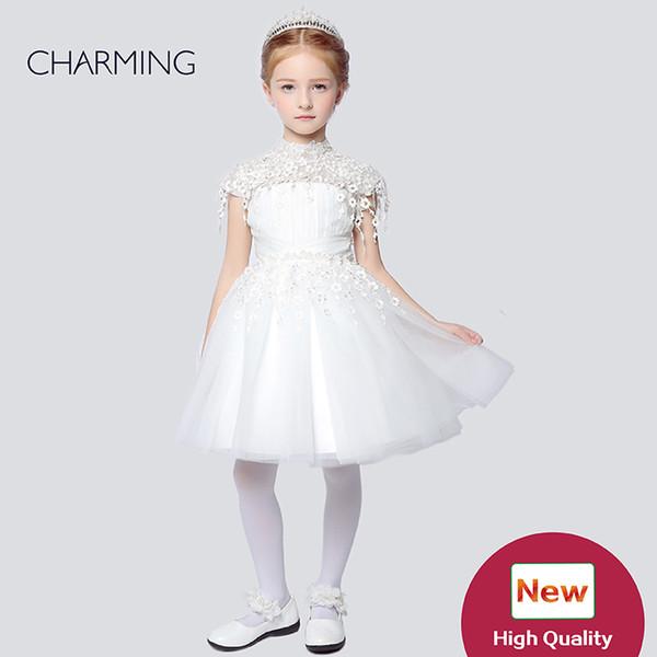 Cute flower girl dresses Designer kids dresses Flower girl dress ivory high quality Pageant dresses for girls China suppliers