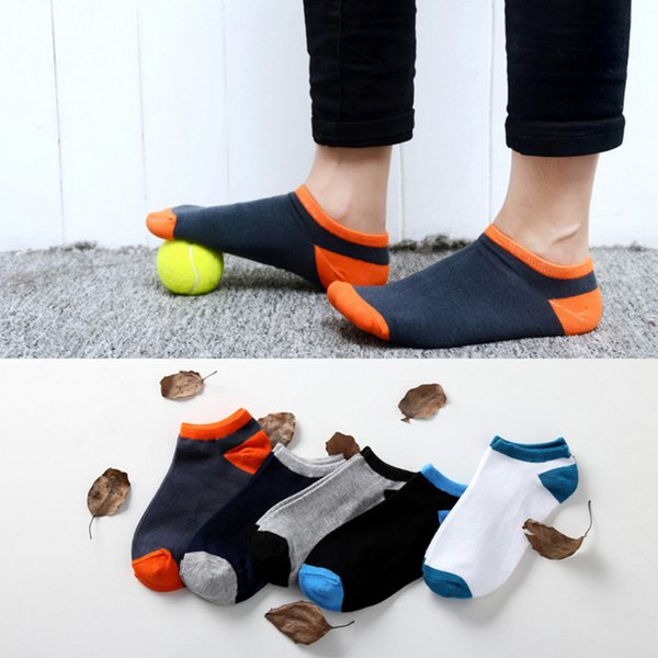 Hot Sale New 2018 Summer Men Socks Thin Breathable Socks Man Cotton Casual fashion Sock Shallow mouth Solid color short socks free shipping