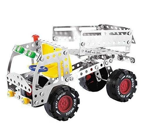 Fingertips Model 3D Puzzle Metal Building Blocks Toys Assemblage Metal Construction Vehicle Toy with retail Box Packing