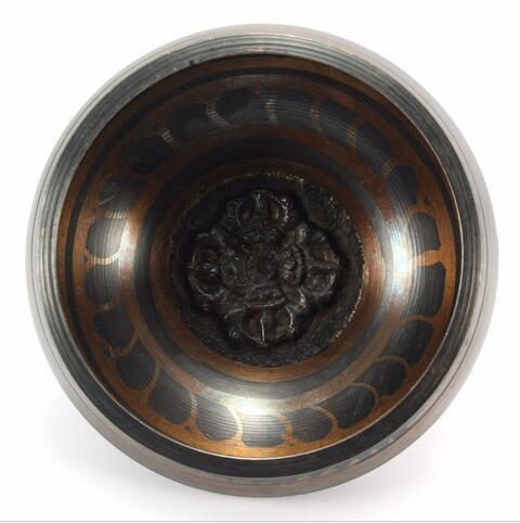 New Arrival Tibetan Buddhist Brass Chakra Singing Bowl Yoga Meditation Healing Wood Hammer for Home Garden Room Decoration