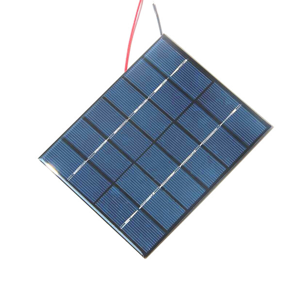 BUHESHUI 2W 6V Epoxy Solar Cell Polycrystalline Solar Panel Module+Cable DIY System Solar Charger Study Education 136*110MM Free Shipping