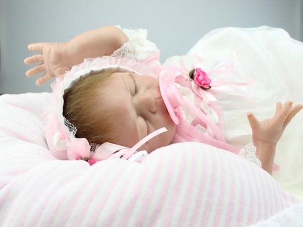 Nicery Reborn Baby Doll Soft Silicone Girl Toy 20in 50cm Sleep White Russian
