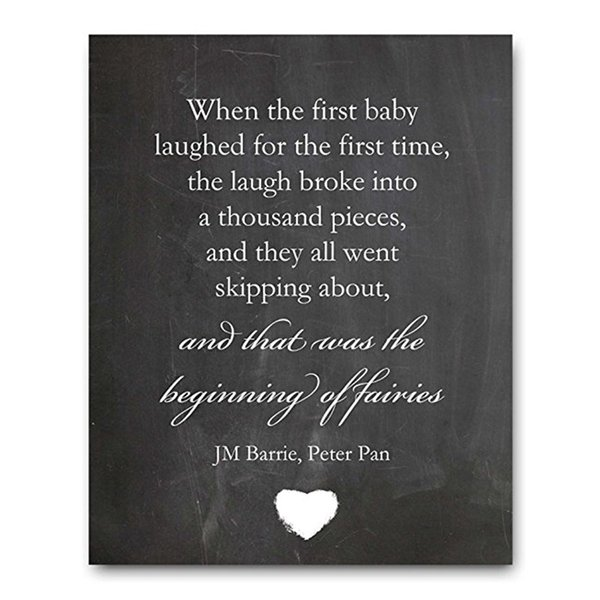 Chalk Sign - When The First Baby Perfect Baby Shower Gift or New Baby Gift Chalkboard Sign, Birthday Gift for Baby Borth